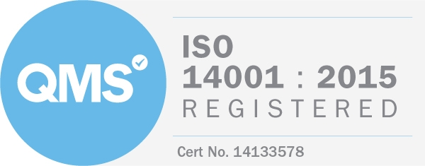 ISO14001 Registered logo evidencing CMC's accreditation
