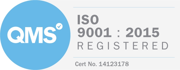 ISO9001 Registered logo evidencing CMC's accreditation