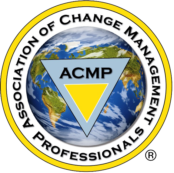 Logo of the Association of Change Management Professionals - CMC is a corporate member