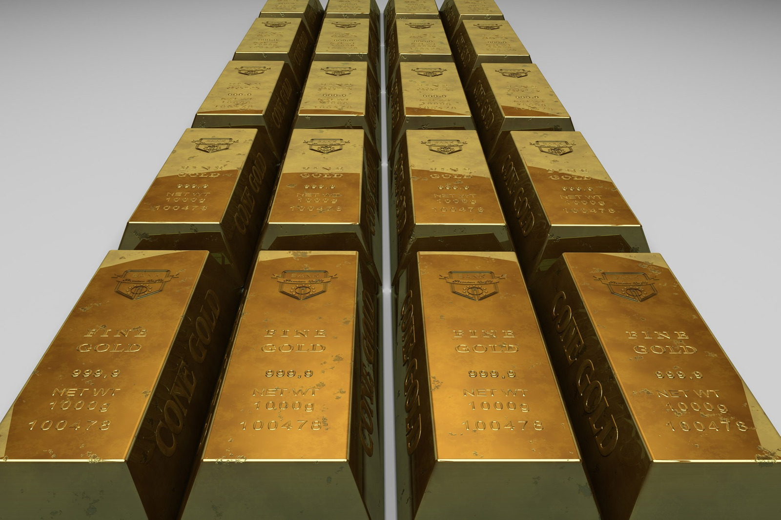 Image of gold bars reflecting the £84m public sector savings delivered through this engagement
