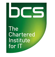 Logo of the British Computer Society, The Chartered Institute for IT - CMC is a corporate member