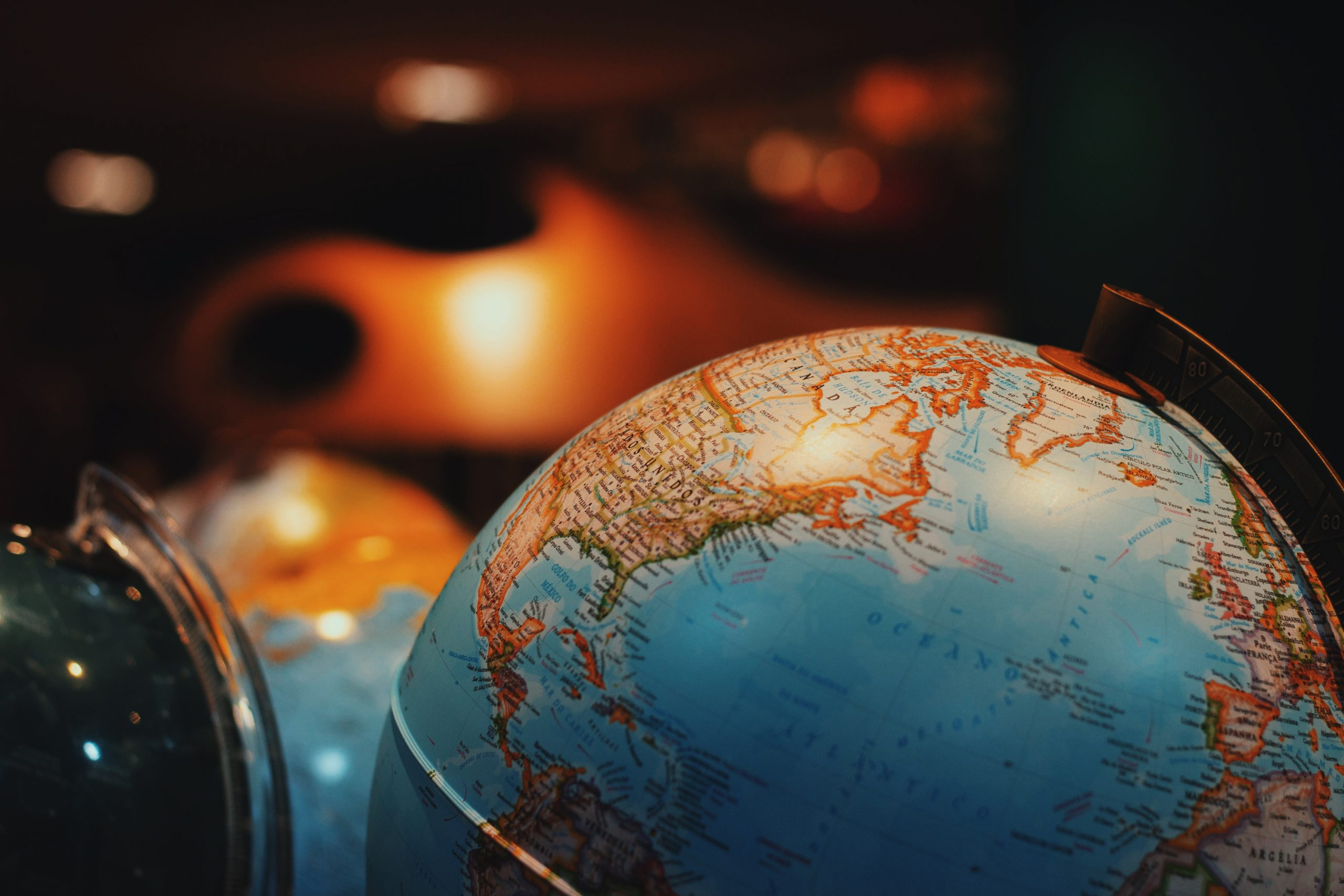 Globe representing Ordnance Survey's global geospatial data capability