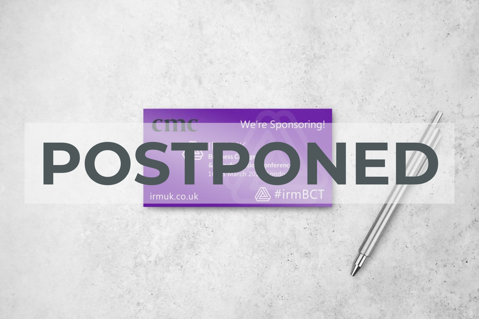 #irmBCT conference postponed